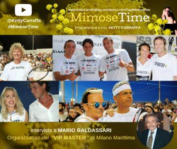 VIP MASTER TENNIS 2019: Intervista al patron, Mario Baldassari, che ogni anno, con il figlio Patrick, portano i vip a Milano Marittima.