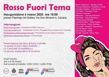 Gli eventi per l'8 marzo non si fermano. Venerdì 6 marzo a Carrara, Ketty Carraffa e gli artisti, per la Giornata Internazionale della donna.
